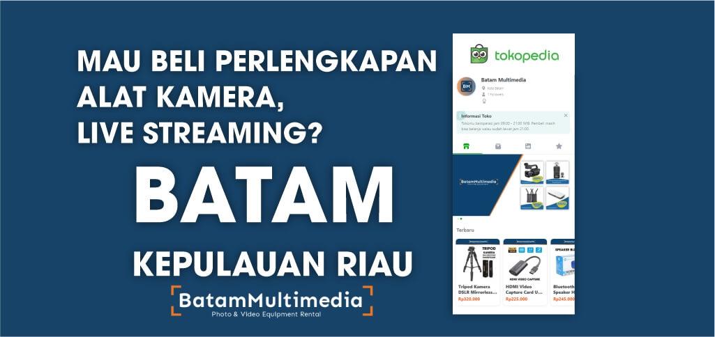 Toko Menjual Alat Studio Live Streaming Kamera Tripod di Batam