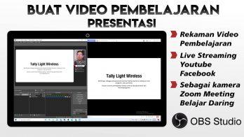 Membuat Video Pembelajaran Ke Zoom Meeting Menggunakan OBS Batam Kamera